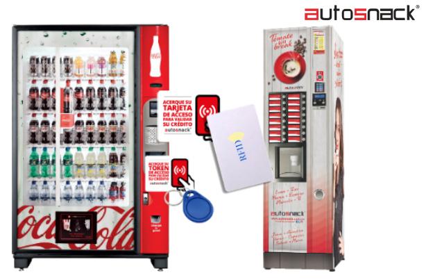 Las tarjeta inteligentes para máquinas dispensadoras de snacks pueden ser recargadas con un monto para cada empleado.